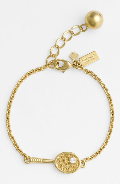 Kate Spade Match Point Tennis Bracelet In Gold Lyst