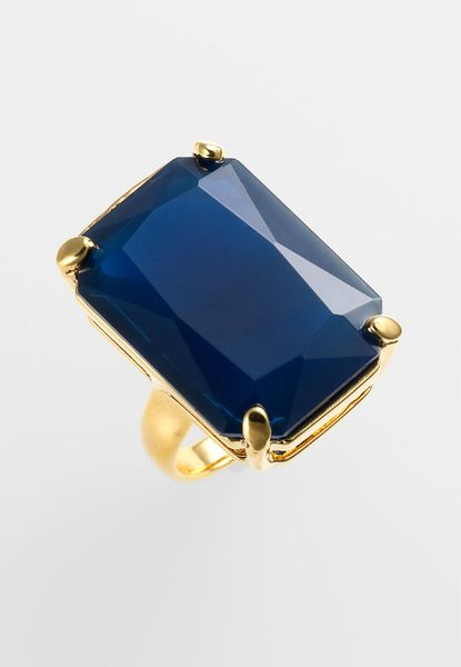 Kate Spade Treasure Chest Statement Ring in Blue (navy) - Lyst
