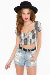 Nasty Gal Dazed and Confused Crop Top - Lyst