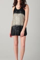 Parker Sequin Blocking Racer Dress - Lyst