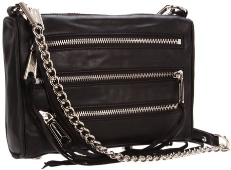 Rebecca Minkoff Mini 5 Zip Clutch in Black - Lyst