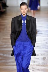 Stella McCartney Fall 2012 Long Black Blazer WIth Satin Lapels  - Lyst