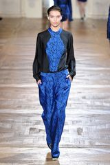 Stella Mccartney Fall 2012 Baggy Pants With Botanical Embroideries in Blue - Lyst