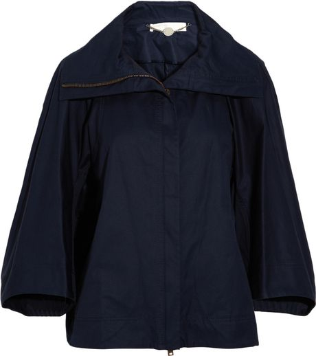 Stella Mccartney Gab Cotton Jacket in Blue - Lyst