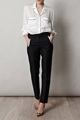 Stella Mccartney Goodwin Pyjama Blouse in White - Lyst