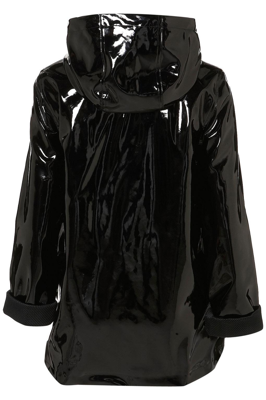 Lyst Topshop Airtex Shiny Plastic Mac In Black