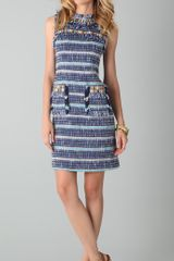 Tory Burch Curtis Tweed Dress - Lyst