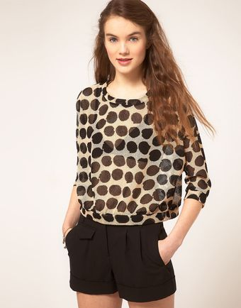 ASOS Collection  Jumper in Spotted Net - Lyst