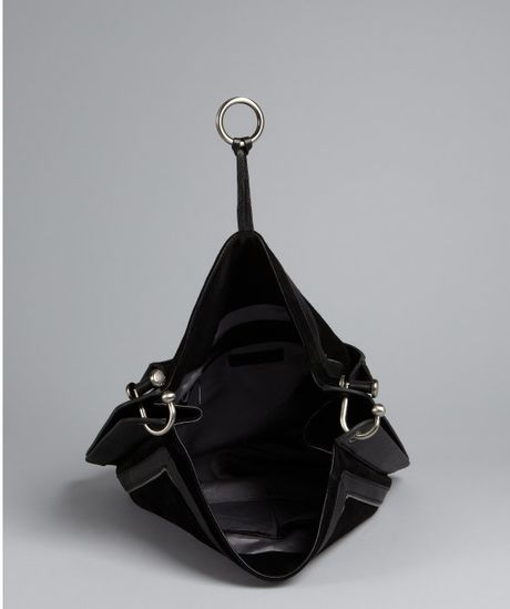 Bcbgmaxazria Black Leather 'Amelie' Large Slouchy Shoulder Bag 40