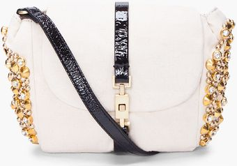 By Malene Birger Cabri Canvas Embellished Clutch - Lyst