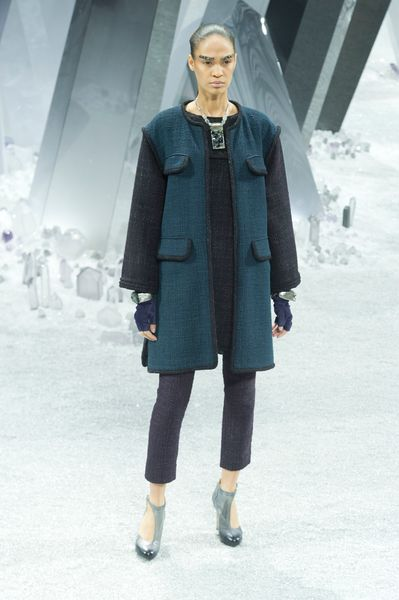 Chanel Fall 2012 Four Pocket Sleeveless Coat In Blue in Blue - Lyst