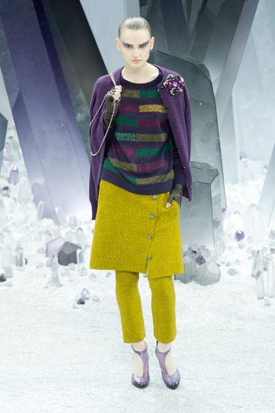 Chanel Fall 2012 Purple Striped Sweater in Purple - Lyst