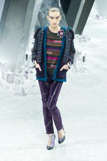 Chanel Fall 2012 Multicolored Striped Sweater - Lyst