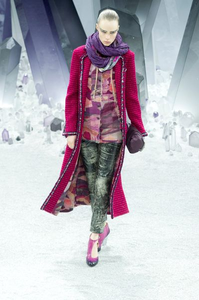 Chanel Fall 2012 Purple Scarf in Purple - Lyst
