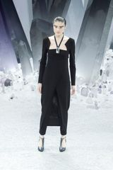 Chanel Fall 2012 Black Straight Cropped Pants - Lyst