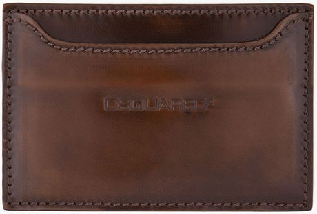 Dsquared2 Brown Classic Card Holder in Brown for Men - Lyst
