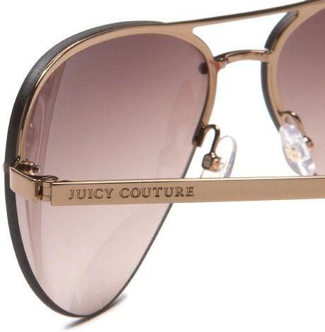 Juicy Couture Womens Genre Aviator Sunglasses in Brown ...