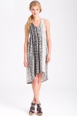Kenneth Cole Python Print Pleated Dress - Lyst