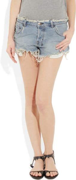 Ksubi Alberceque Cutoff Denim Shorts in Blue (denim) - Lyst