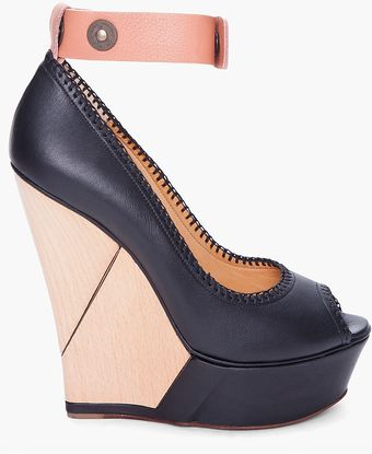 Lanvin Simple Puzzle Wedges - Lyst