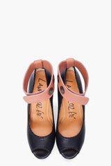 Lanvin Simple Puzzle Wedges in Black - Lyst