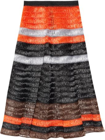 Proenza Schouler Striped Raffia Skirt - Lyst