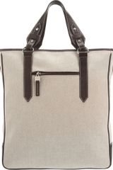 Serapian Canvas and Leather Tote - Lyst