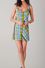 Thakoon Addition Ikat Print Short Tank Dress - Lyst