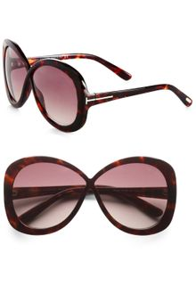 Tom Ford Plastic Crossover Butterfly Sunglasses - Lyst