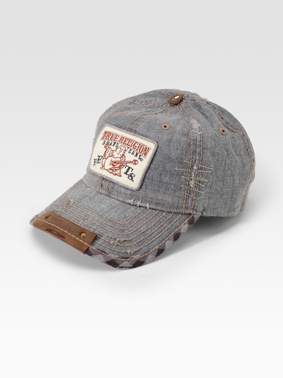 lyst true religion linen ball cap in brown for men. Black Bedroom Furniture Sets. Home Design Ideas