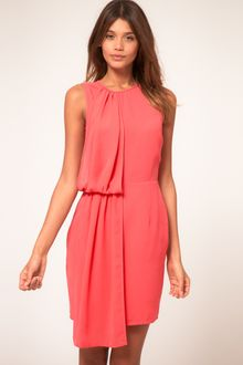 ASOS Collection Asos Crepe Dress with Drape - Lyst