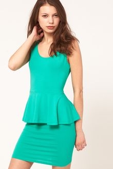 ASOS Collection Asos Dress with Peplum - Lyst