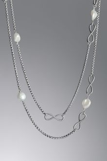 David Yurman Cushion Collection Necklace, Pearl - Lyst
