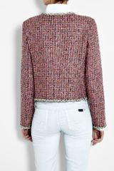 D&g Chain Trim Bright Bouclé Jacket in Purple (multicoloured) - Lyst