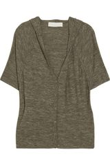 Donna Karan New York Hooded Oversized Wool and Silk-blend Cardigan - Lyst