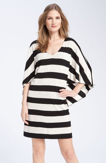 Suzi Chin For Maggy Boutique Stripe Batwing Jersey Dress - Lyst