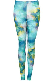 Topshop Space Print Leggings - Lyst