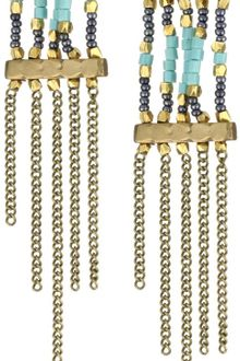 Vanessa Mooney Achoura Swinging Chain Earrings - Lyst