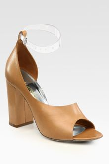 3.1 Phillip Lim Cody Leather Peep Toe Dorsay Sandals - Lyst