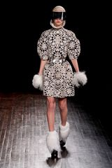 Alexander McQueen Fall 2012 Laser-Cut Pony Skin Doilie Dress - Lyst