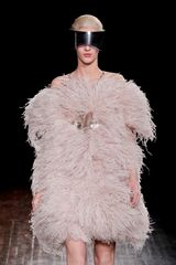 Alexander McQueen Fall 2012 Ostrich Feather Adorned Dress - Lyst