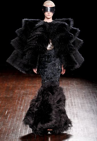 Alexander McQueen Fall 2012 Ostrich Feather Hem Mermaid Gown - Lyst