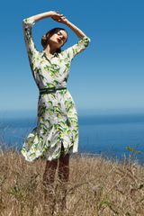 Carolina Herrera Sparrow-print Shirtdress - Lyst