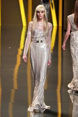 Elie Saab Fall 2012 Sheer Layered Paillette Embroidered Gown  in White - Lyst