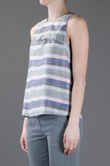 Emporio Armani Striped Tank Top in Blue (grey) - Lyst