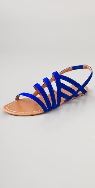 Joe S Jeans Tina Strappy Suede Sandals In Blue Cobalt Lyst