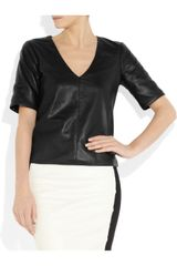 Kelly Bergin Perforated Leather Top in Black - Lyst