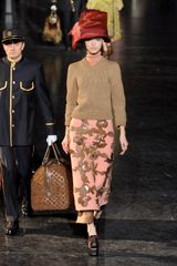 Louis Vuitton Fall 2012 Floral Applique Midi Skirt - Lyst