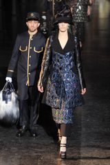 Louis Vuitton Fall 2012 Leather Sleeve Kaleidoscope Appliqué Coat - Lyst