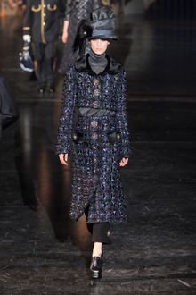 Louis Vuitton Fall 2012 Adorned Brocade MId Length Skirt - Lyst